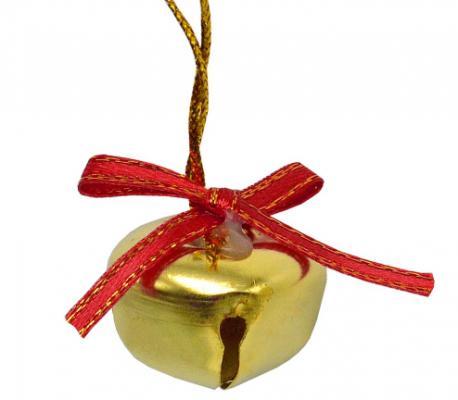 Елочные украшения Winter Wings Колокольчики золотой 2.5 см 12 шт