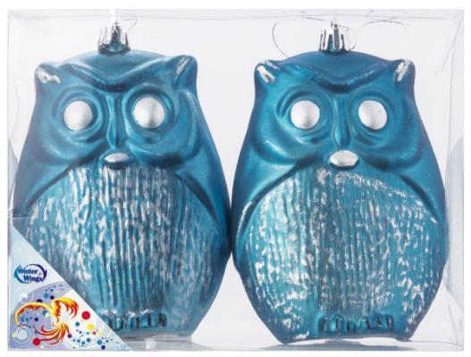 Купить Елочные украшения Winter Wings Совы синий 11 см 2 шт