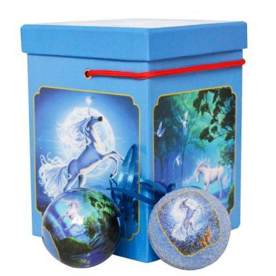 Набор шаров Winter Wings Лошадка голубой 6 см 8 шт пластик