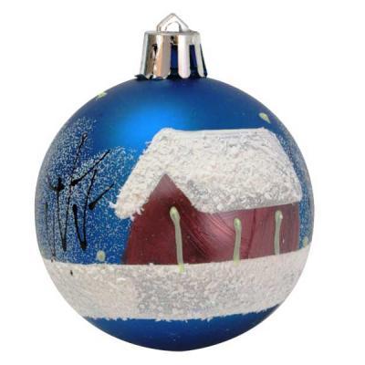 Купить Набор шаров Winter Wings Новый Год синий 6 см 6 шт пластик, Елочные украшения
