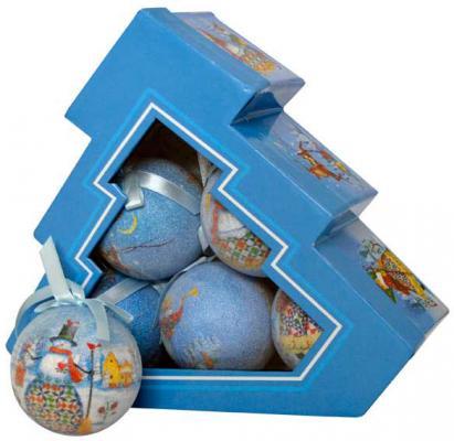 Купить Набор шаров Winter Wings Зимний калейдоскоп N180939 7.5 см 6 шт, разноцветный, Елочные украшения