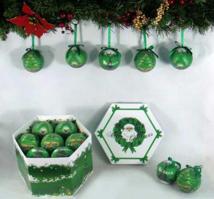 Купить Набор шаров Winter Wings Новогодняя елочка 7.5 см 14 шт пластик, разноцветный, Елочные украшения