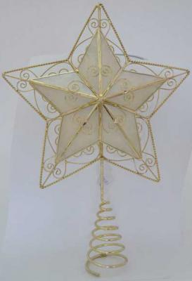 Наконечник Winter Wings Звезда перламутровый 28*18 см  шт металл