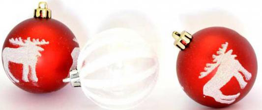 Купить Набор шаров Winter Wings Зимний узор 7 см 3 шт пластик N180009, разноцветный, Елочные украшения