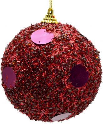 Купить Елочные украшения Winter Wings Шар с блестками пурпурный 10 см 1 шт N06869P