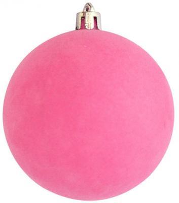 Купить Набор шаров Winter Wings Флокир, в связке розовый 8 см 2 шт пластик N181152, Елочные украшения