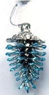 Купить Елочные украшения Winter Wings Шишка голубой 9х5 см 1 шт пластик N181659