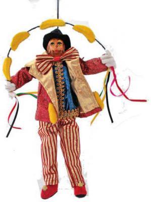 Купить Подвеска Winter Wings Цирковая обезьяна 28 см 1 шт N069172, разноцветный, Елочные украшения