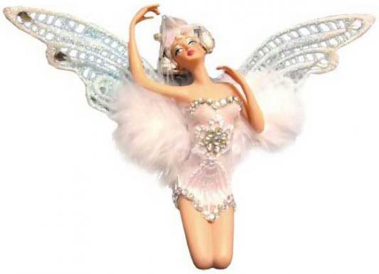 Подвеска Winter Wings Эльф в белой одежде 11 см 1 шт N06595 украшение подвеска декоративная эльф в красной одежде 15 см 1