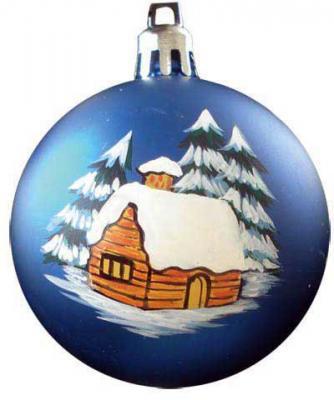 Купить Набор шаров Winter Wings Домик в лесу, с ручной росписью в ассортименте 7 см 6 шт N06473, цвет в ассортименте, Елочные украшения