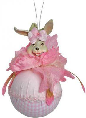 Елочные украшения Winter Wings Шар. Кролик цвет в ассортименте 10 см 1 шт N069240