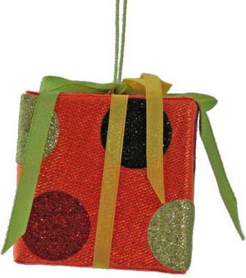 Елочные украшения Winter Wings Подарок в ассортименте 8*8 см 1 шт трикси игрушка для собак щенок 8 см латекс цвет в ассортименте