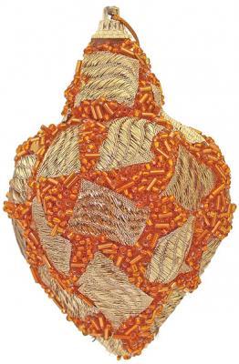 Купить Елочные украшения Winter Wings Подвеска оранжевый 10 см 1 шт