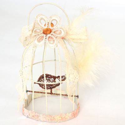 Елочные украшения Winter Wings Птичка в клетке 13 см 1 шт металл, бумага