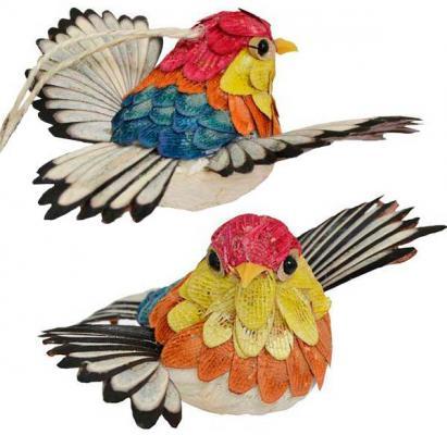 Елочные украшения Winter Wings Птичка 12 см 1 шт соломка украшение winter wings птичка лесная сказка красный 14х10 см 1 шт полимер n180342
