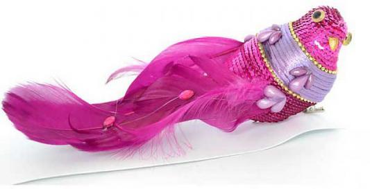 Елочные украшения Winter Wings Птичка розовый 23 см 1 шт пластик, ПВХ