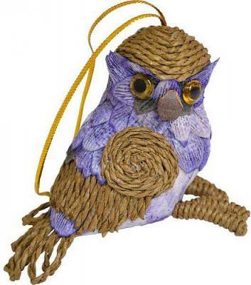 Елочные украшения Winter Wings Птичка 8 см 1 шт соломка N181390