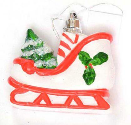 Купить Елочные украшения Winter Wings Санки 6, 5 х 6, 5 см 1 шт полимер N180429, разноцветный