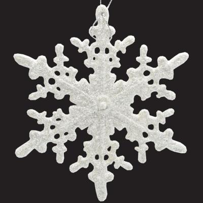 Елочные украшения Winter Wings Снежинка белый 12 см 1 шт пластик N181623W елочные украшения winter wings снежинка серебро 10 см 1 шт пластик n181692