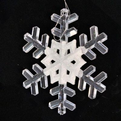 Елочные украшения Winter Wings Снежинка белый 9.5 см 2 шт пластик N180013 winter wings украшение елочное елка