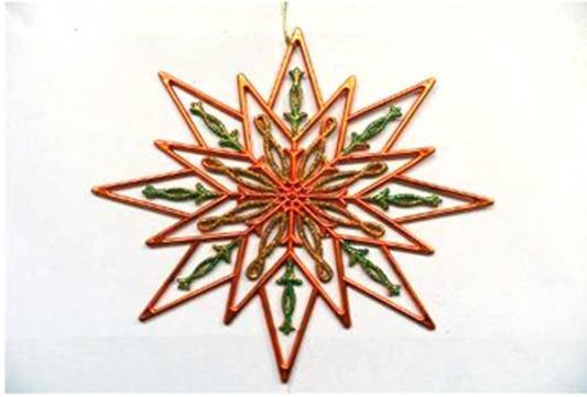 Елочные украшения Winter Wings Снежинка 24 см 1 шт пластик N181629 winter wings украшение елочное елка