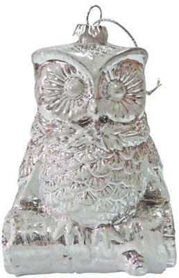 Купить Елочные украшения Winter Wings Сова. Зимние узоры белый 11 см 1 шт пластик N181555
