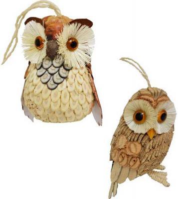 Елочные украшения Winter Wings Сова 10 см 1 шт соломка N181395 winter wings украшение елочное елка