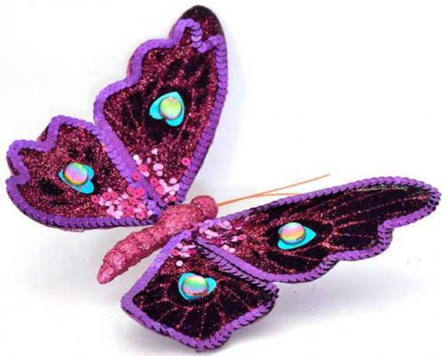 Елочные украшения Winter Wings Бабочка 5.5*11 см 1 шт металл N181520 winter wings украшение елочное елка