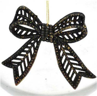 Елочные украшения Winter Wings Бантик барокко черный/золотой 8*8 см 1 шт N180285 внешний жесткий диск usb3 3tb ext 2 5 black hdtb330ek3cb toshiba