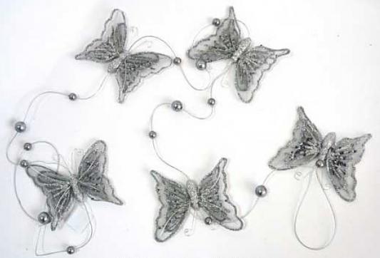 Гирлянда Winter Wings Бабочки серебро 150 см 1 шт полимер гирлянда winter wings льдинки 120 см 1 шт в ассортименте