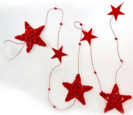 Елочные украшения Winter Wings Гирлянда шары красный 170 см 1 шт полимер