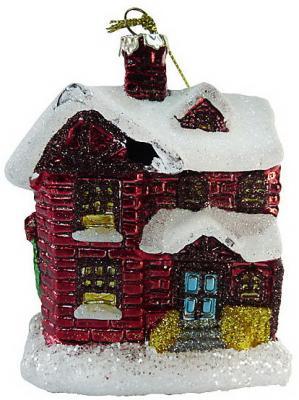 Елочные украшения Winter Wings Домик 11 см 1 шт пластик елочные украшения русские подарки игрушка ёлочная домик