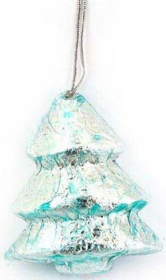 Картинка для Елочные украшения Winter Wings Елочка серебро 8 см 1 шт полимер, бумага