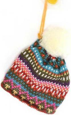 Елочные украшения Winter Wings Жаккард темный шапка 10 см 1 шт полиэстер