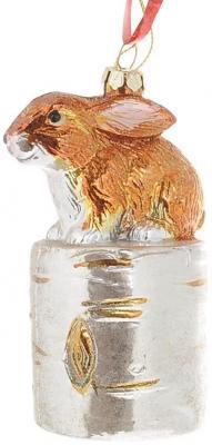 Купить Елочные украшения Winter Wings Заяц 10 см 1 шт пластик N181562, разноцветный