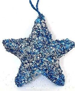 Елочные украшения Winter Wings Звезда синий 10 см 1 шт полимер елочные украшения winter wings барабан 10 см 1 шт синий