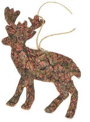 Елочные украшения Winter Wings Лось коричневый 7.5х4.5см 1 шт дерево елочные украшения ewa eco wood art набор елочных игрушек комплект