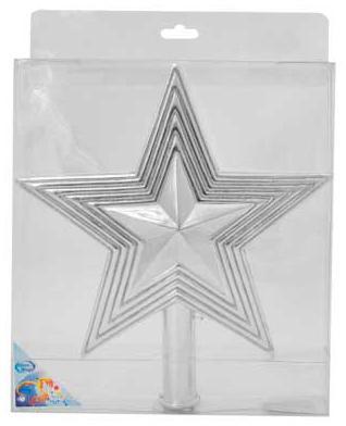 Наконечник Winter Wings Звезда с блестящей крошкой в ассортименте 25 см 1 шт пластик N069438