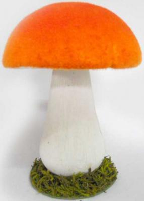 Картинка для Украшение Winter Wings Красный гриб 20 см 1 шт полимер N069758