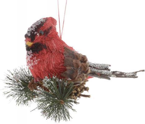 Картинка для Украшение Winter Wings Птичка лесная сказка красный 14х10 см 1 шт полимер N180342