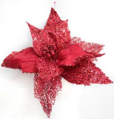 Украшение Winter Wings Цветок с клипом красный 22 см 1 шт полиэстер N069864/КР блузка pinetti блузка