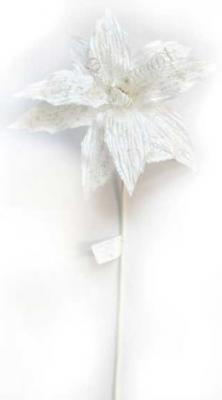 Украшение Winter Wings Цветок льдинка белый 70 см 1 шт полимер N069862