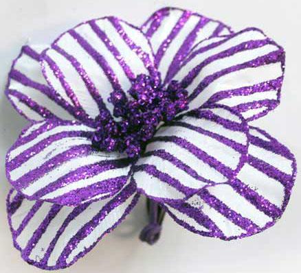 Украшение Winter Wings Цветок полоска фиолетовый 16 см 1 шт N069868/Ф украшение winter wings цветок полоска фиолетовый 16 см 1 шт n069868 ф