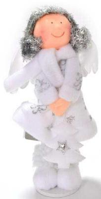 Украшение Winter Wings Ангел белый 20 см 1 шт полимер, полиэстер N180203 в ассортименте украшение winter wings ракушка 9 5 см 1 шт белый полимер