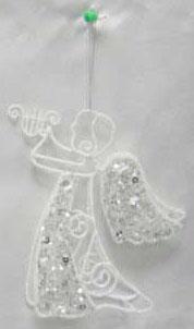 Украшение Winter Wings Ангел белый 16 см 1 шт полимер, металл N180470