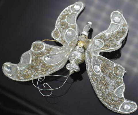 Украшение Winter Wings Бабочка ажурная серебро 10 см 1 шт полиэстер N180043 украшение winter wings бабочка с клипом 10 см 1 шт красный полиэстер n069865