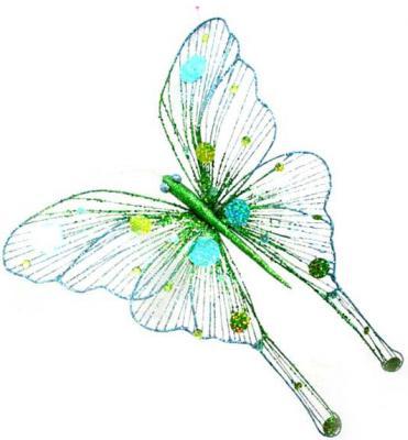 Украшение Winter Wings Бабочка в ассортименте 43 см 1 шт пластик N069830