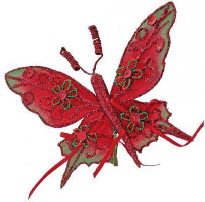 Украшение Winter Wings Бабочка, с блестками в ассортименте 16 см 1 шт полиэстер N069194 украшение декоративное village people тропическая бабочка с магнитом в ассортименте 11 5 х 9 х 5 см 2 шт 69028