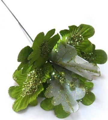Украшение Winter Wings Веточка зеленый 73 см 1 шт полимер, бумага N069702