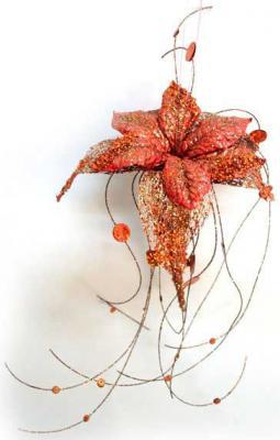 Украшение Winter Wings Волшебный цветок коралловый 33 см 1 шт пластик N069859/СВКР